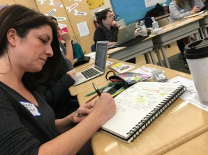 Shawna Coppola taking sketchnotes