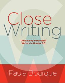 Close Writing Book Jacket